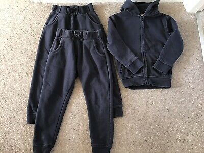 Sainsburys TU Girls School PE Kit, Joggers X2, Hoody, Age 5 - Good Condition