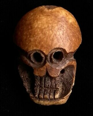 Rare 19th Century Tibetan Large Skull Bead Made From A Human Femur Bone.