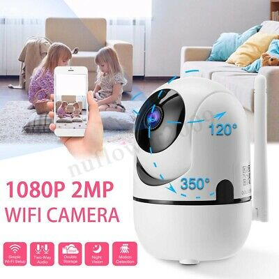 FHD 1080P Wireless Wifi Security Camera Night Vision Baby Monitor fit Alexa echo