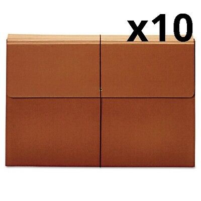 "Expanding Wallet, 3.5"" Expansion, 1 Section, Tabloid Size, Brown, Pack of 10"