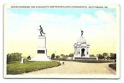 Vintage Postcard Civil War Minnesota Pennsylvania Monuments Gettysburg PA I15