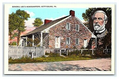 Vintage Postcard Civil War General Lee's Headquarters Gettysburg PA I15