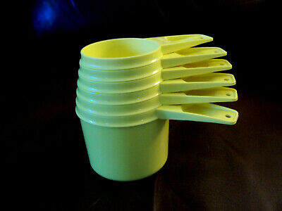 Tupperware Stacking Measuring Cups Yellow SET of 6