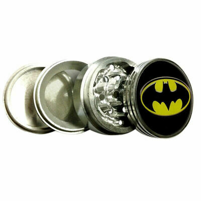 "Batman Logo DC Comics 56mm Grinder Tobacco Herb Spice Metal 2.5""wide 4 Piece GW2"