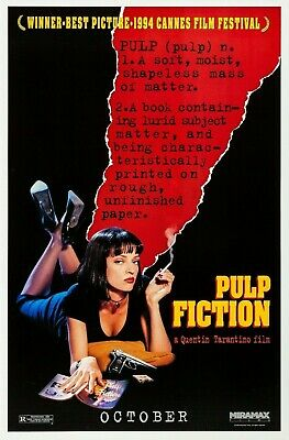 """Classic """"Pulp Fiction"""" 1990's Movie Film Poster Print Picture A3 A4 A5"""