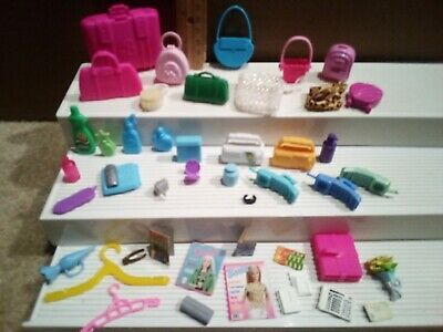 BARBIE Doll DOLLHOUSE HOUSEHOLD ACCESSORIES Lot PURSES