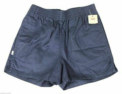 """NEW VTG 80s LEVIS Navy Blue SHORT SHORTS 30"""" Waist Youth Large Adult Small NWT !"""