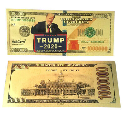 US President Donald Trump Commemorative Coin Fake Banknote Collectible Gift
