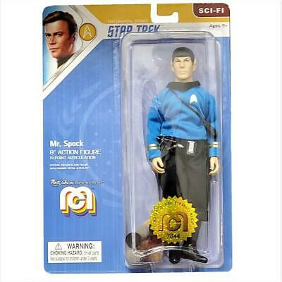 "Star Trek Mego Mr. Spock 8"" Action Figure with Tribbles NIB"