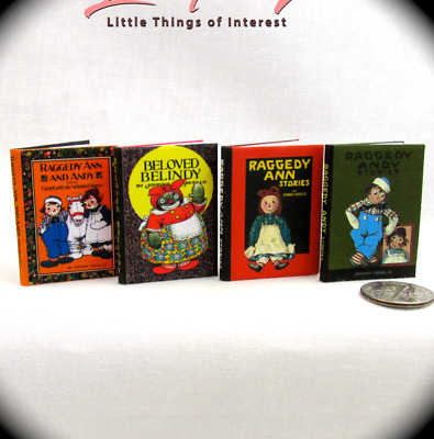 1:6 Scale RAGGEDY BOOKS Set of 4 books Readable Illustrated books