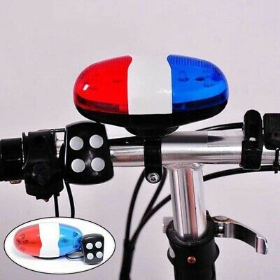 4 Sounds LED Light Electric Horn Bell Police Siren Trumpet Bike Bicycle Bell New