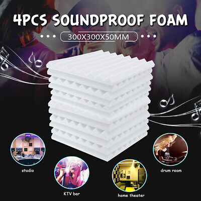 4-24Pcs Acoustic Panels Tiles Studio Sound Proofing Insulation Closed Cell