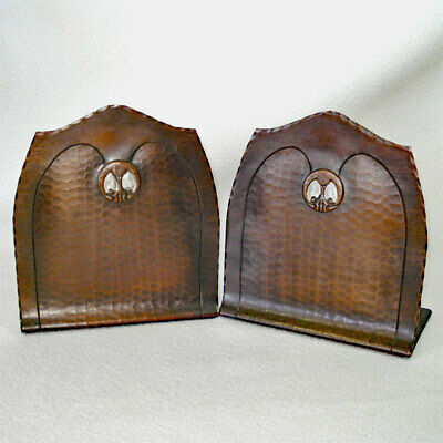Craftsman Studios Mission Arts and Crafts Copper Bookends