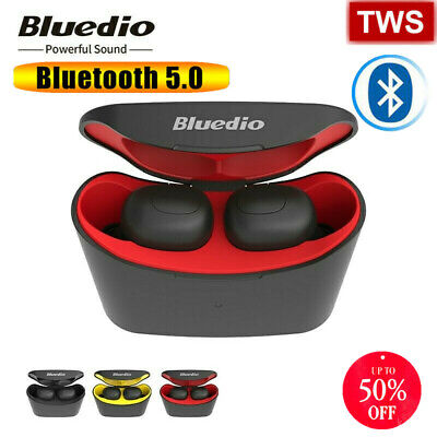 Bluedio T-elf Air pod Bluetooth 5.0 Sports Wireless Earphones with charging box.