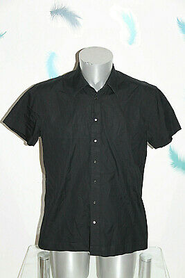 Luxurious Black Shirt short Sleeves Thierry Mugler Size 40 like New