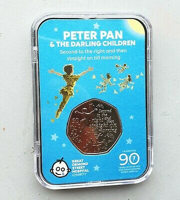 The Peter Pan 50p Capsule Edition & Free Stand - Isle of Man 2019 *