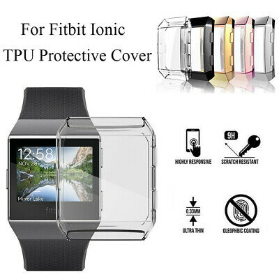 Ultrathin Soft TPU Full Cover Shell Screen Protector Case Skin For Fitbit ionic