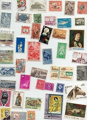 ALL WORLD Stamps 1000 All Different Off Paper  Lot 129