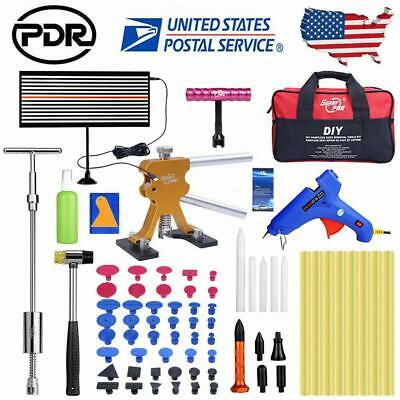 55pc Paintless Dent Removal Puller Lifter PDR Tools Line Board Repair Hammer Kit