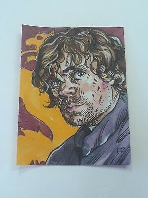 """Tyrion Lannister Game of Thrones Art Drawing Sketch 1 1/2"""" x 2"""" post it note art"""