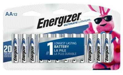 Energizer Ultimate Lithium AA Batteries, 12 Pack NEW