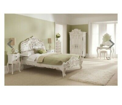 White Rocco Double Antique French Bed Frame