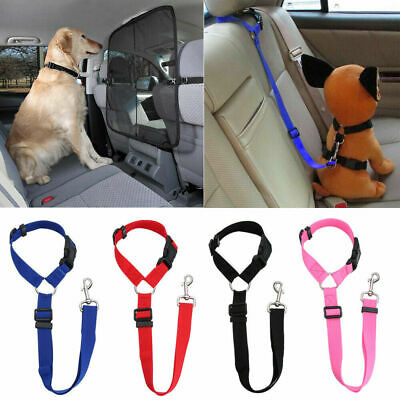 Pet Dog Car Seat Belt Lead Clip Safety Harness Restraint Car Van Journey Travel