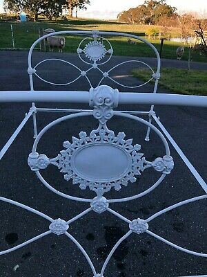 Antique cast iron bed double size