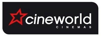 1 Adult cinema ticket code to Cineworld (the list price is for one code)