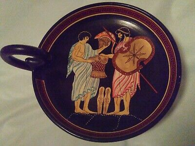 Vintage Decorative Collectible J. Sprcopoulos Hand Made Plate, Greece