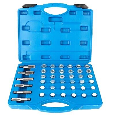 114Pcs Automobile Oil Pan Screw Sump Gearbox Drain Plug Tool Set Repair Kit