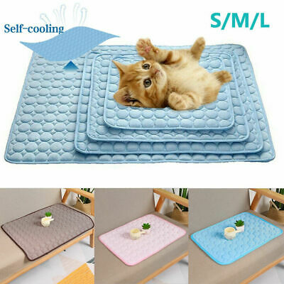 Pet Summer Cooling Mat Cold Gel Pad Comfortable Cushion for Dog Cat Puppy CA