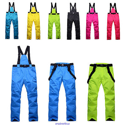 Unisex Windproof Overall Ski Snow Pants Insulated Waterproof new Winter