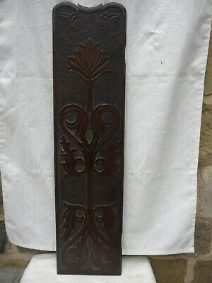 'Art Nouveau' Longcase clock case door in a reddish medium/dark oak