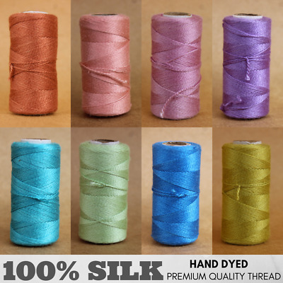 1 Spool - 90 Meters - 100% Silk Hand Embroidery Thread - HAND DYED