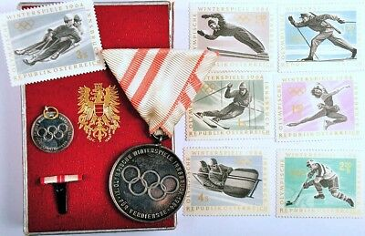 Original. medal Olympic Winter Games INNSBRUCK 1964 in Box !! EXTREME RARE