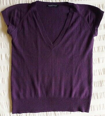 WOOLOVERS short sleeved jumper..size S..Merino wool & Cashmere