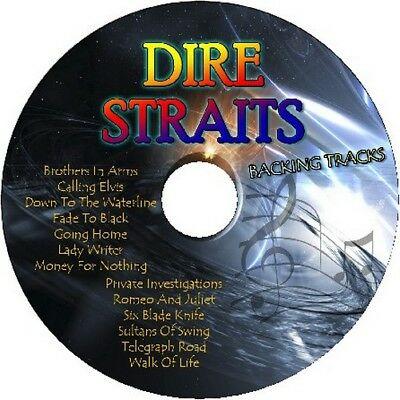 Dire Straits Guitar Backing Tracks Cd Best Greatest Hits Rock Music Play Along
