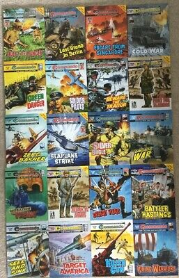 Commando comics 20 comic Collection Joblot (no.s 4680 - 4709) £2 Comics