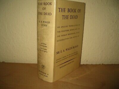 The Book Of The Dead (Egyptian Book Dead) Wallis Budge Hardback With Dj 1969