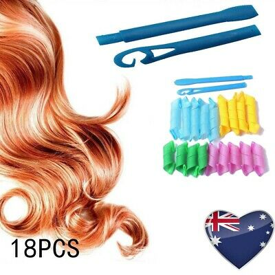 Magic Hair Curler DIY 18Pcs Leverage Curlers Curl Formers Spiral Styling Roll AU