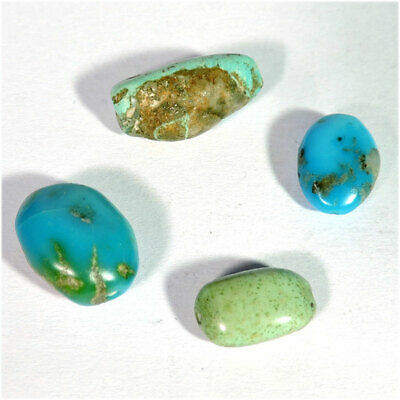 17.65Cts Natural Tibet Turquoise Fancy Shape Drill Pendant Bead Gemstone Lot