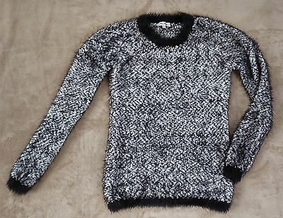 MISS SHOP black and white long sleeve warm knit jumper, Size 10, EUC