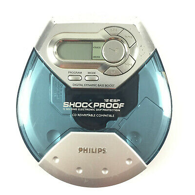 Philips AX2101 Shockproof Walkman CD Baladeur Lecteur Portable Disque Discman