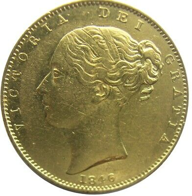 GREAT BRITAIN - Victoria Young Head' Shield Back 'Gold Soverrign 1846 VF