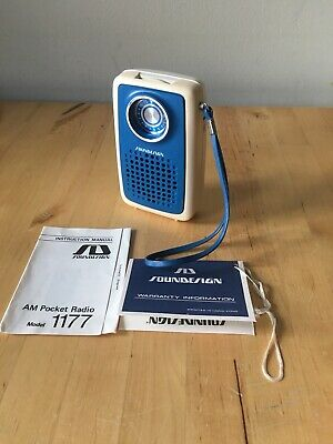 Sound Design Transistor Radio. Clean, Working, Boxed With Paperwork!