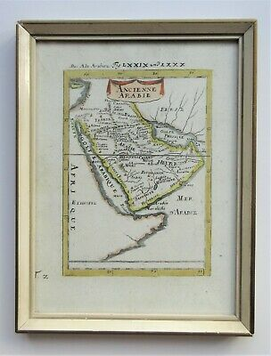 Framed map 'Ancienne Arabie' by Alain Manesson Mallet c1684