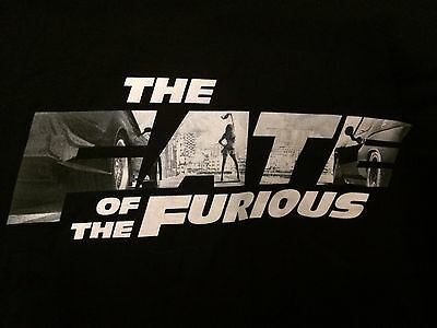 The Fate of the Furious movie tee shirt  Size Large