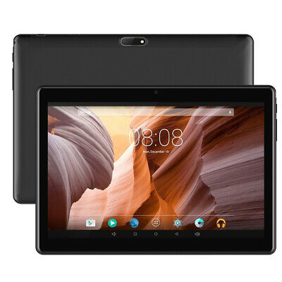 Black Tablet 10 inch Android Go 8.1 PC 8+256GB Camera Wifi Phablet Office Game