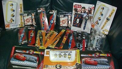 A WHOLESALE JOB LOT 50 OF mix star wars. & DISNEY CARS & .MINONS WATCHES